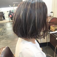 黒髪 外国人風 グレージュ ハイライト ヘアスタイルや髪型の写真・画像