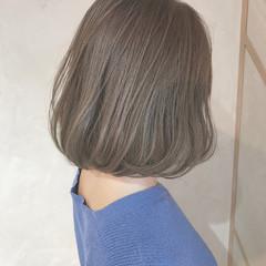 コンサバ ハイライト ボブ イルミナカラー ヘアスタイルや髪型の写真・画像