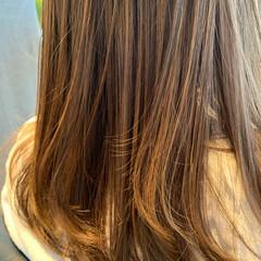 外国人風カラー ハイライト ナチュラル ロング ヘアスタイルや髪型の写真・画像