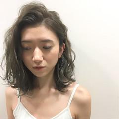 ハイライト フェミニン 暗髪 ストリート ヘアスタイルや髪型の写真・画像