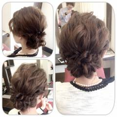 ゆるふわ 結婚式 編み込み ルーズ ヘアスタイルや髪型の写真・画像