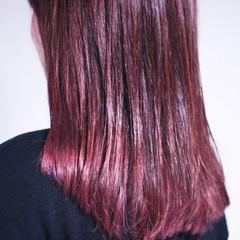 ラベンダーピンク セミロング ピンクアッシュ ピンクベージュ ヘアスタイルや髪型の写真・画像