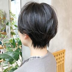 愛され ショート 大人かわいい 黒髪 ヘアスタイルや髪型の写真・画像
