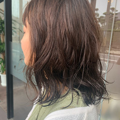 無造作パーマ ゆるふわパーマ 大人可愛い セミロング ヘアスタイルや髪型の写真・画像