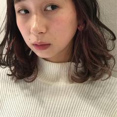 アンニュイ インナーカラー ガーリー ゆるふわ ヘアスタイルや髪型の写真・画像