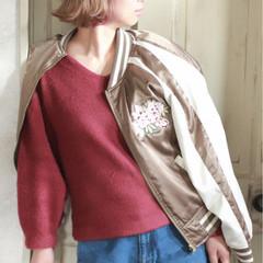 ストリート ピンク アッシュ 前髪あり ヘアスタイルや髪型の写真・画像