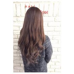 外国人風 ショコラブラウン ロング ブラウン ヘアスタイルや髪型の写真・画像