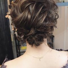 結婚式 外国人風 ヘアアレンジ フェミニン ヘアスタイルや髪型の写真・画像
