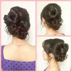 ミディアム ヘアアレンジ 結婚式 パーティ ヘアスタイルや髪型の写真・画像