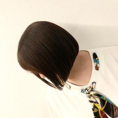 前下がり ミニボブ ショートヘア モード ヘアスタイルや髪型の写真・画像