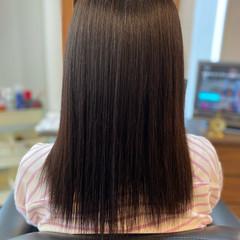 艶髪 髪質改善 美髪 セミロング ヘアスタイルや髪型の写真・画像