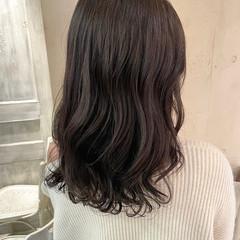 コテ巻き風パーマ 韓国ヘア セミロング ヨシンモリ ヘアスタイルや髪型の写真・画像