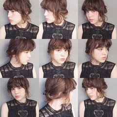 前髪あり ショート 大人かわいい ミディアム ヘアスタイルや髪型の写真・画像