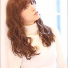 フェミニン セミロング ガーリー モテ髪 ヘアスタイルや髪型の写真・画像