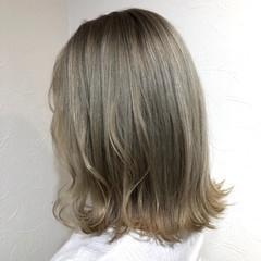 ボブ マットグレージュ オリーブアッシュ マット ヘアスタイルや髪型の写真・画像