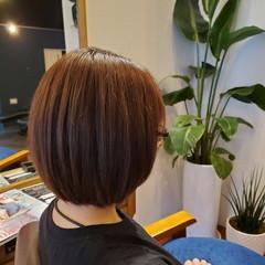 ツヤ髪 ボブ 小顔ヘア ミニボブ ヘアスタイルや髪型の写真・画像