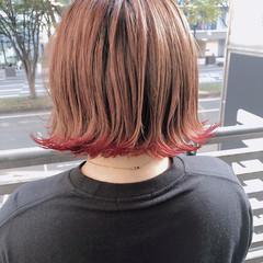 ストリート ボブ 切りっぱなし ヘアスタイルや髪型の写真・画像