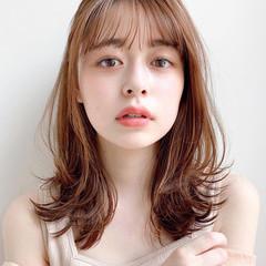 大人ミディアム 大人かわいい デジタルパーマ ひし形シルエット ヘアスタイルや髪型の写真・画像