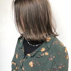 ヘアアレンジ ミディアム ヌーディベージュ ミルクティーベージュ ヘアスタイルや髪型の写真・画像