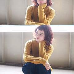 マルサラ 外国人風 ガーリー ロブ ヘアスタイルや髪型の写真・画像