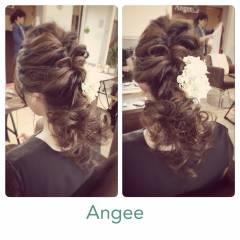 モテ髪 フェミニン コンサバ ヘアアレンジ ヘアスタイルや髪型の写真・画像