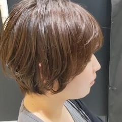 ナチュラル ショートヘア ショートボブ マッシュヘア ヘアスタイルや髪型の写真・画像
