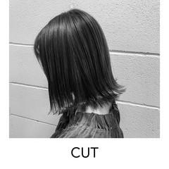 切りっぱなしボブ ストリート 原宿 ボブ ヘアスタイルや髪型の写真・画像