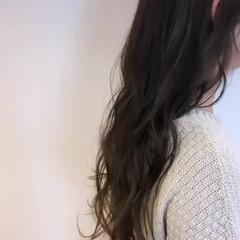 透明感 デート スタイリング ロング ヘアスタイルや髪型の写真・画像