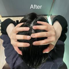 リラクシー ツヤ髪 ヘッドスパ 頭皮ケア ヘアスタイルや髪型の写真・画像