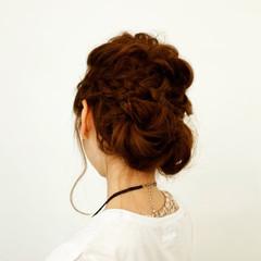 波ウェーブ ヘアアレンジ 結婚式 セミロング ヘアスタイルや髪型の写真・画像
