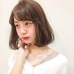 シースルーバング ボブ タンバルモリ 韓国ヘア ヘアスタイルや髪型の写真・画像