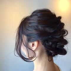 成人式 黒髪 簡単ヘアアレンジ フェミニン ヘアスタイルや髪型の写真・画像