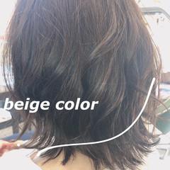 切りっぱなしボブ 外国人風カラー モード ヌーディベージュ ヘアスタイルや髪型の写真・画像