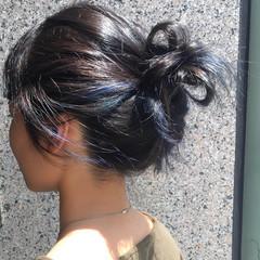 アウトドア ミディアム ネイビー スポーツ ヘアスタイルや髪型の写真・画像