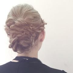 結婚式 ヘアアレンジ 二次会 ミディアム ヘアスタイルや髪型の写真・画像