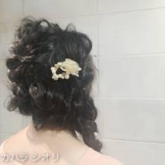 くるりんぱ ロング ヘアアレンジ ゆるふわ ヘアスタイルや髪型の写真・画像