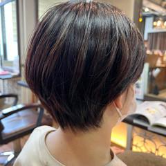 ミニマムボブ ナチュラル ショートヘア ミニボブ ヘアスタイルや髪型の写真・画像