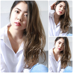 大人かわいい 色気 フェミニン ロング ヘアスタイルや髪型の写真・画像