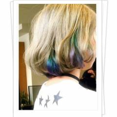 ボブ グラデーションカラー インナーカラー ストリート ヘアスタイルや髪型の写真・画像