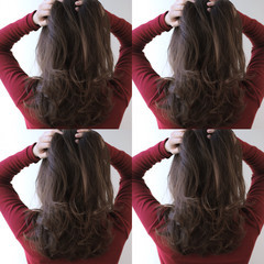 ロング ミルクティー アッシュグレージュ ハイライト ヘアスタイルや髪型の写真・画像