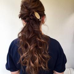 ローポニーテール ロング デート ヘアアレンジ ヘアスタイルや髪型の写真・画像