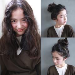簡単ヘアアレンジ セミロング 外国人風 ショート ヘアスタイルや髪型の写真・画像