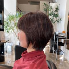 ハンサムショート 艶髪 美シルエット ナチュラル ヘアスタイルや髪型の写真・画像