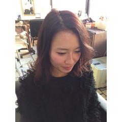 ミディアム グラデーションカラー ゆるふわ ガーリー ヘアスタイルや髪型の写真・画像