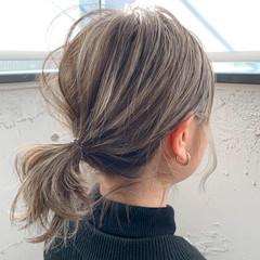 アウトドア パーティ ボブ ナチュラル ヘアスタイルや髪型の写真・画像