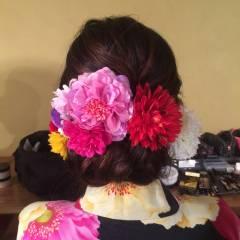 花火大会 夏 簡単ヘアアレンジ ロング ヘアスタイルや髪型の写真・画像