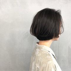 小顔 ボブ 簡単 ナチュラル ヘアスタイルや髪型の写真・画像