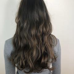 ロング アッシュ ブルーアッシュ 暗髪 ヘアスタイルや髪型の写真・画像