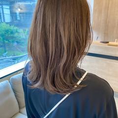 極細ハイライト アンニュイほつれヘア くびれボブ ミディアムレイヤー ヘアスタイルや髪型の写真・画像