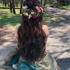 結婚式 フェミニン ボブ ヘアアレンジ ヘアスタイルや髪型の写真・画像
